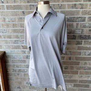 FOOTJOY Grey Polo Short Sleeve Golf Athletic Fit M